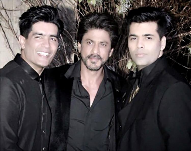 Shah Rukh Khan's happy insta pic post Manish Malhotra's birthday party