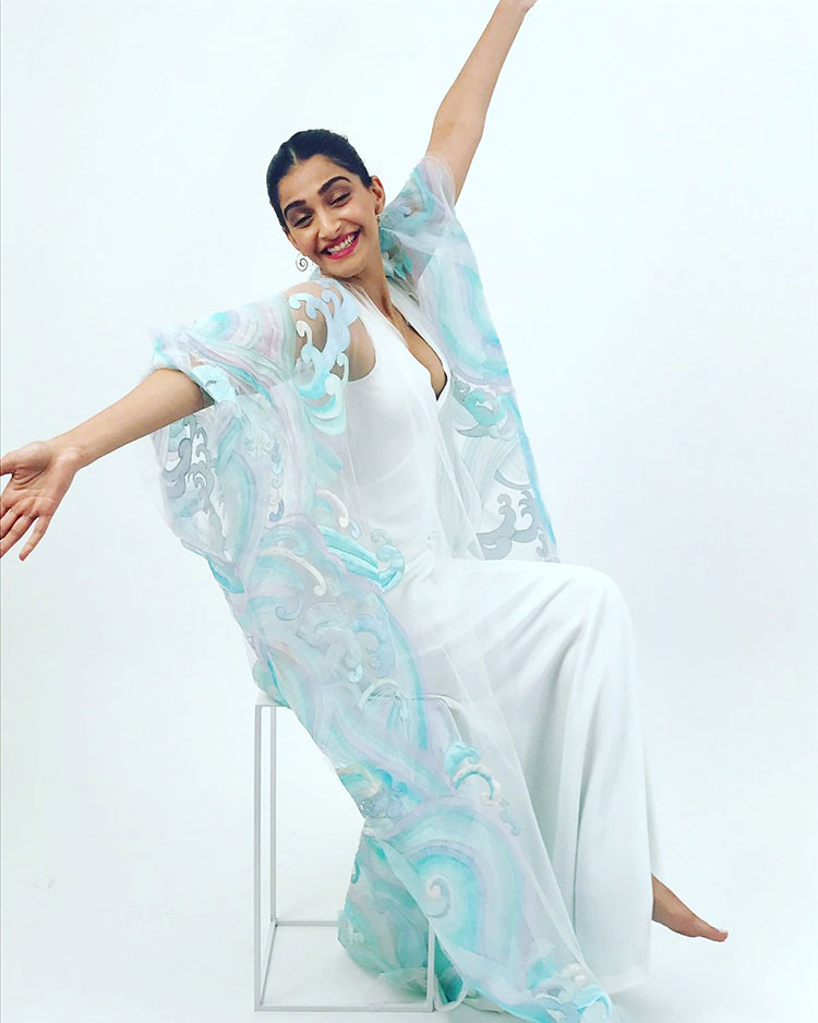 Sonam Kapoor being the sea goddess at Cannes 2017