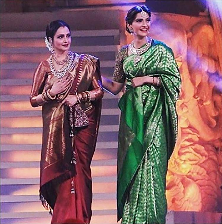 Sonam Kapoor shares a photo with Rekha on her Instagram account
