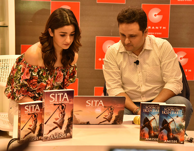 Alia Bhatt and Amish Tripathi launch the video trailer for Sita: Warrior of Mithila