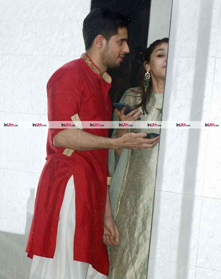 Alia Bhatt and Sidharth Malhotra's cute candid moment