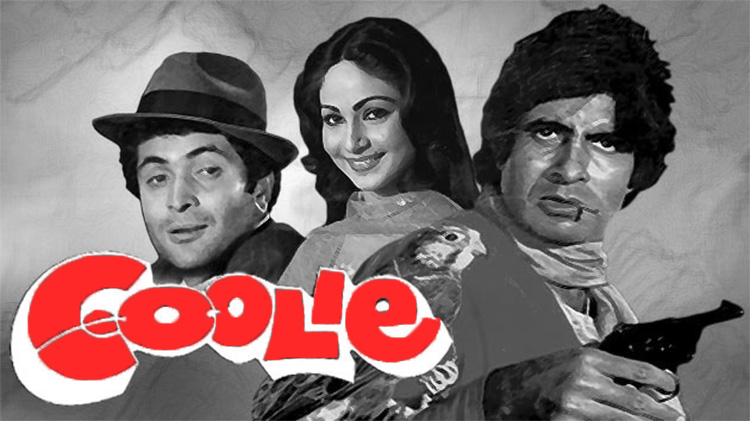 Amitabh BaAmitabh Bachchan and Rishi Kapoor in Cooliechchan and Rishi Kapoor in CoolieIn this 1983, Amitabh and Rishi play the role of step brothers but their relationship gives the vibe of a strong relationship.