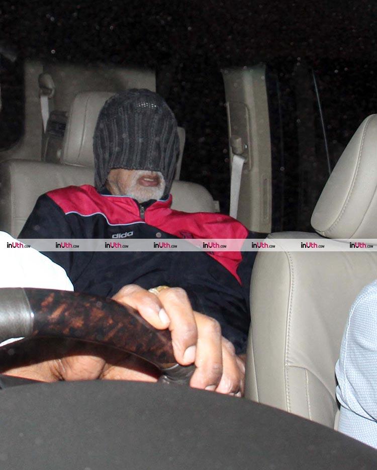 Amitabh Bachchan outside Lilavati hospital on February 9