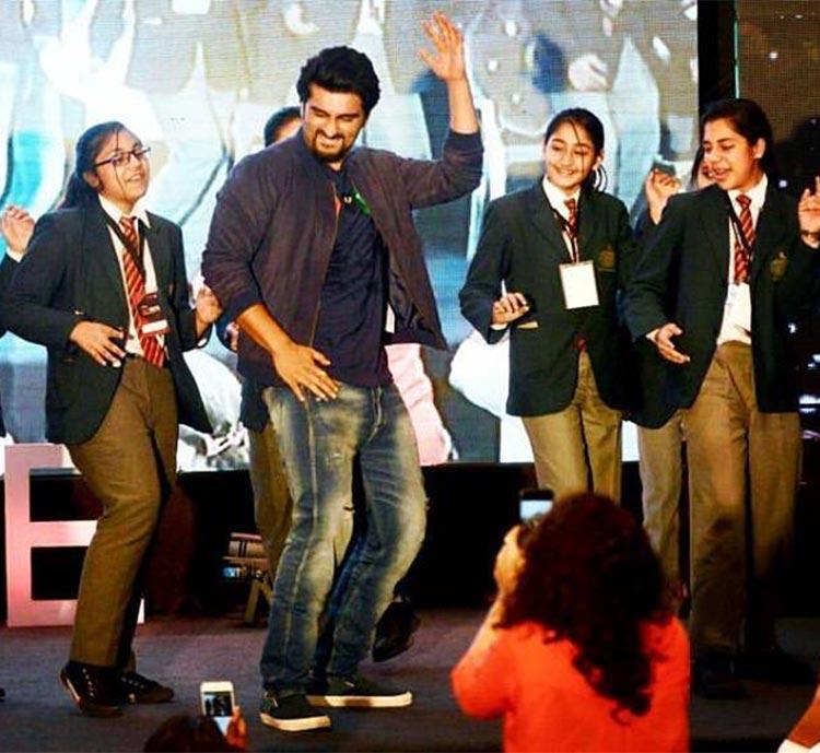 Arjun Kapoor having fun at an event