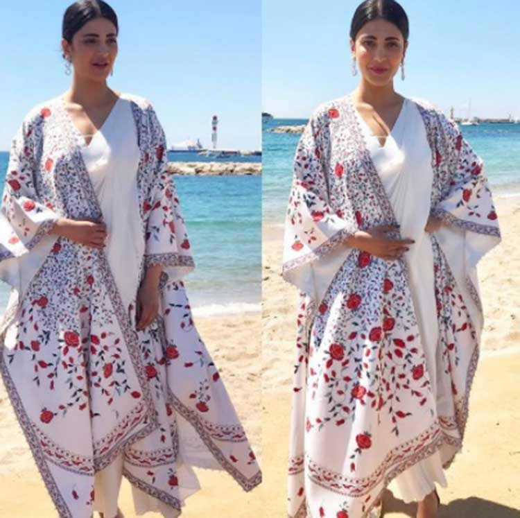 Shruti Hassan looked divine on her day day 2 at Cannes 2017