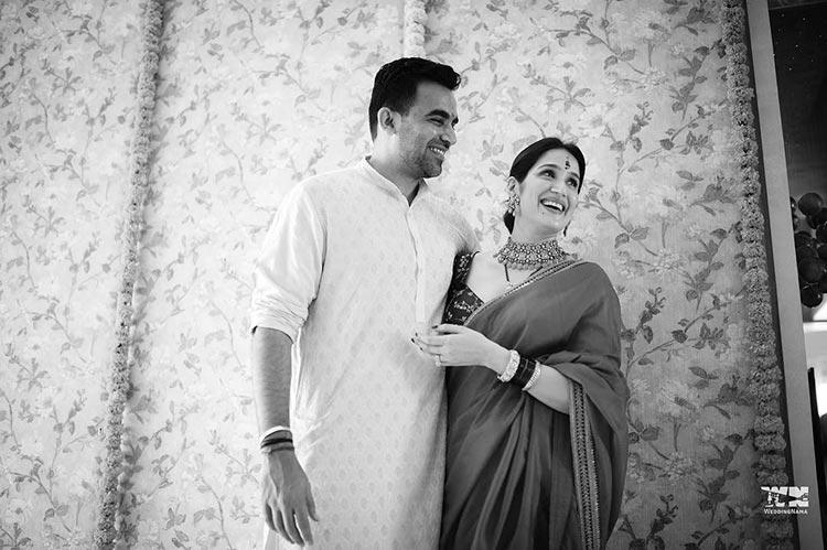Zaheer Khan and Sagarika Ghatge's beautiful candid pic from their wedding