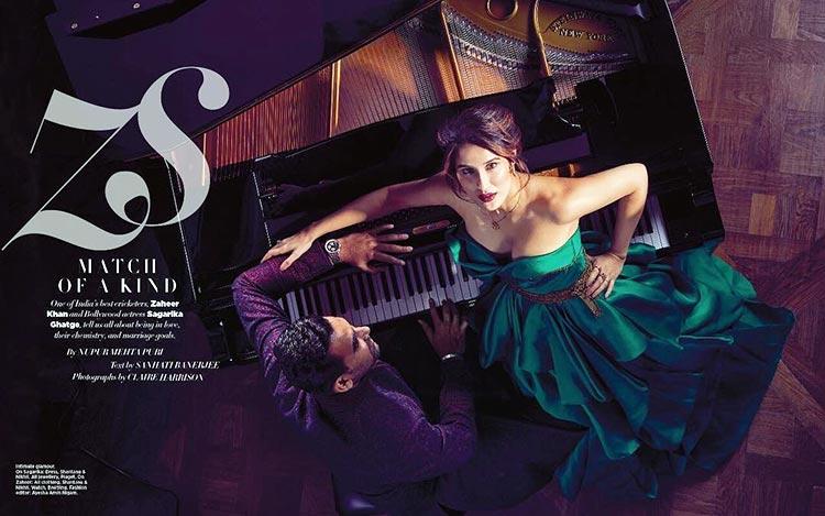 Zaheer Khan and Sagarika Ghatge's ethereal photoshoot for a magazine