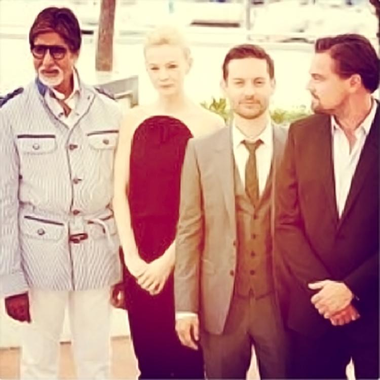 Amitabh Bachchan gathers with The Great Gatsby stars for an insta pic