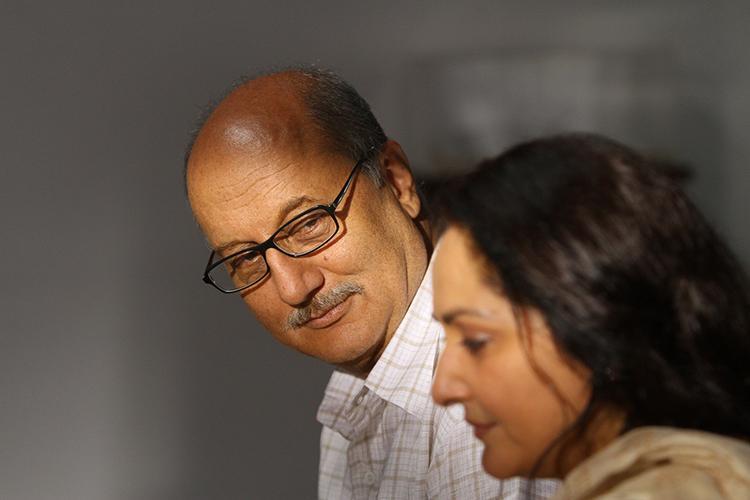 Anupam Kher with Jayaprada in Pranayam