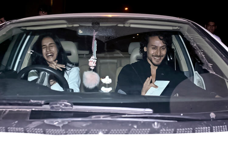 Disha Patani and Tiger Shroff caught candid before a dinner date