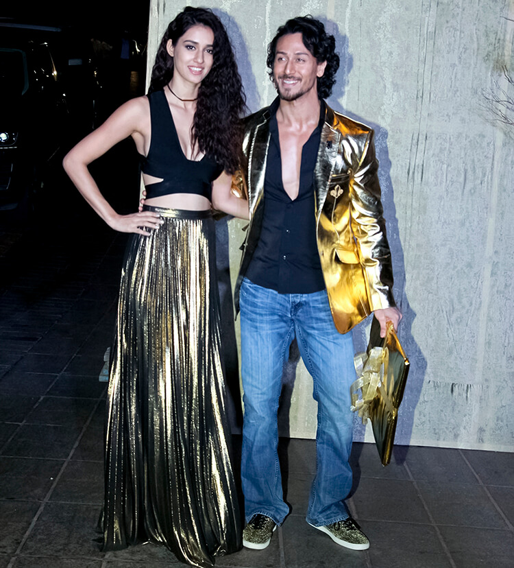 Disha Patani with Tiger Shroff at Manish Malhotra's birthday party