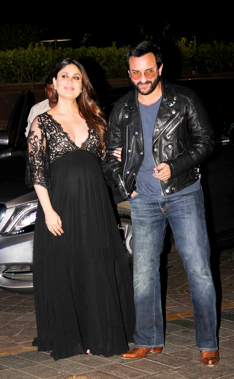 Kareena Kapoor with husband Saif Ali Khan at Manish Malhotra's birthday party