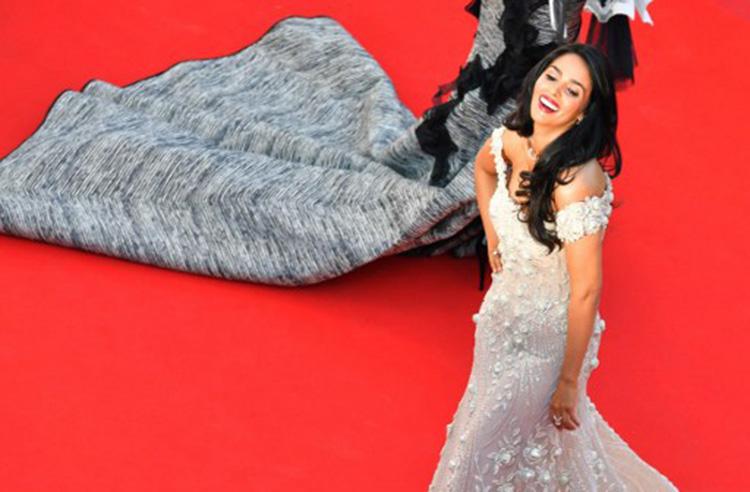 Mallika Sherawat rocking the Cannes 2017 red carpet