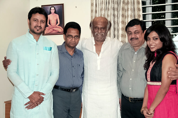 Raja Abel inviting Rajinikanth for his wedding party