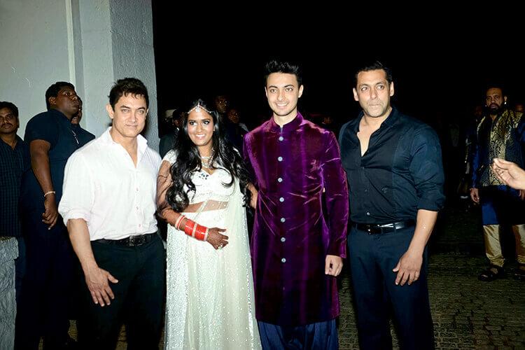 Salman Khan at sister Arpita's post-wedding party