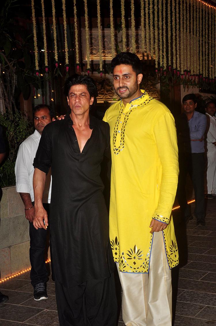 Shah Rukh Khan at Amitabh Bachchan's Diwali party