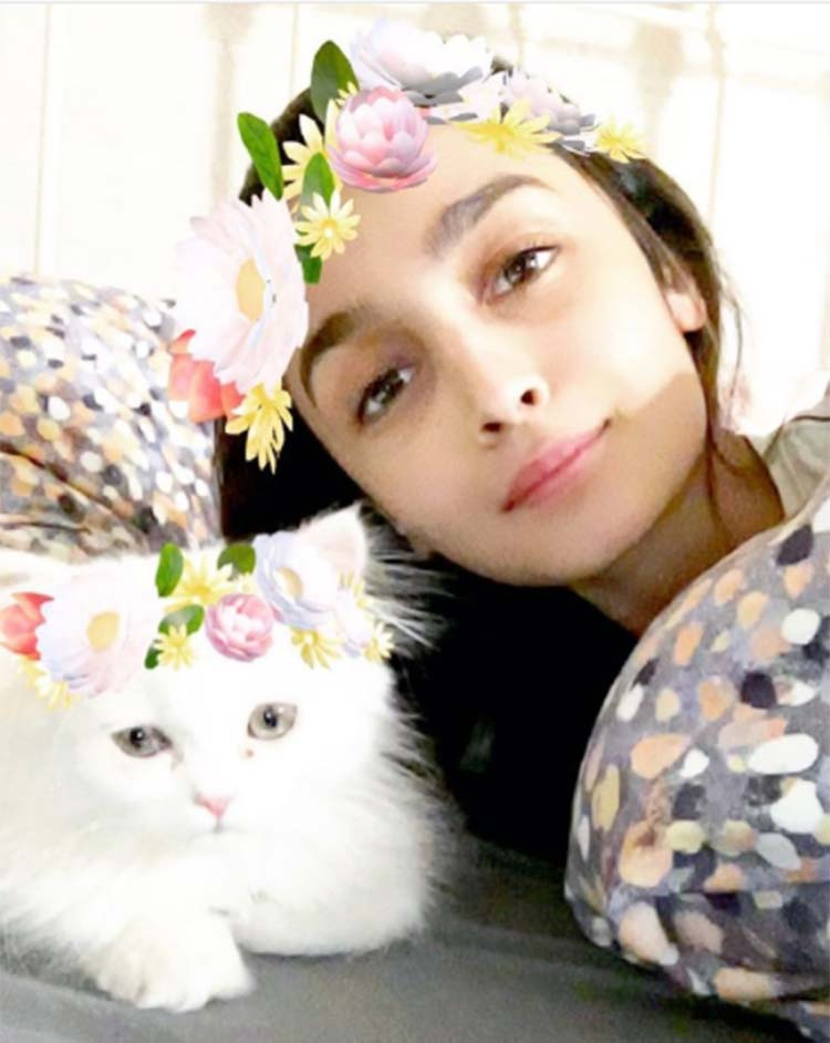 Alia Bhatt tries some Snapchat filters with her kitten