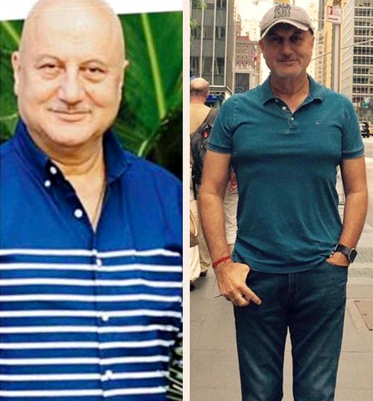 Anupam Kher's body transformation is inspirational