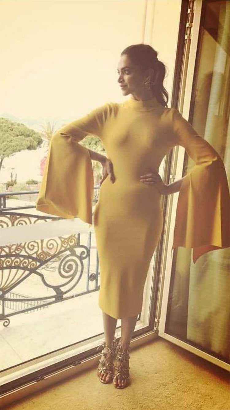 Deepika Padukone's sunny look from Cannes day 2
