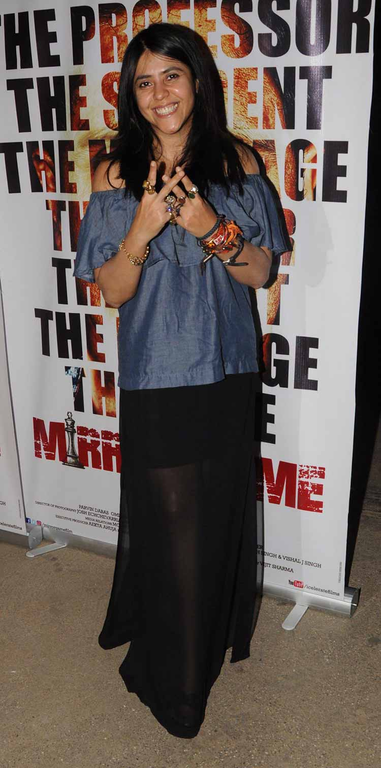 Ekta Kapoor at Mirror Game Screening