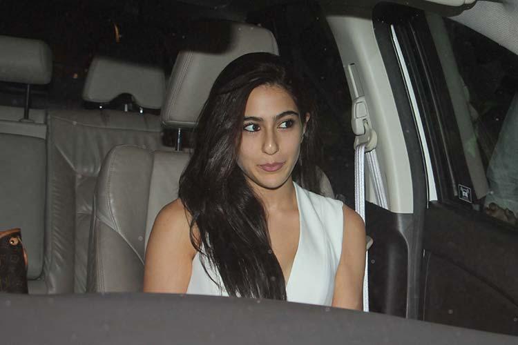 Sara Ali Khan spotted at Karan Johar's party