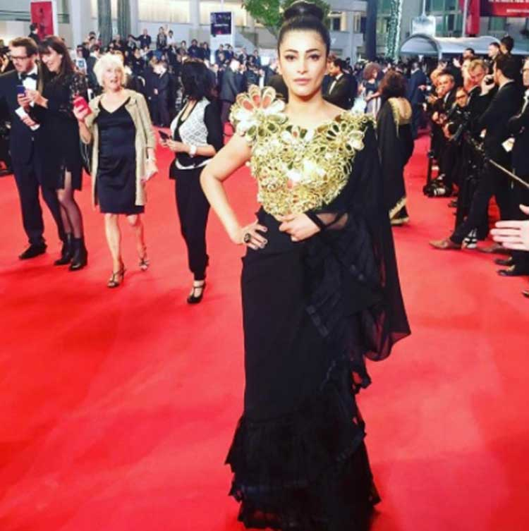 Shruti Hassan's day 2 red carpet look at Cannes 2017