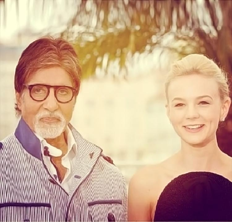 Amitabh Bachchan shared this beautiful photo with Carey Mulligan on Instagram