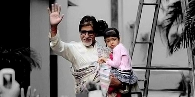 Amitabh Bachchan's candid moment with grand-daughter Aaradhya