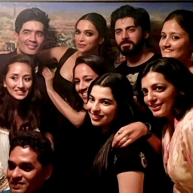 Deepika Padukone parties with Manish Malhotra and Fawad Khan