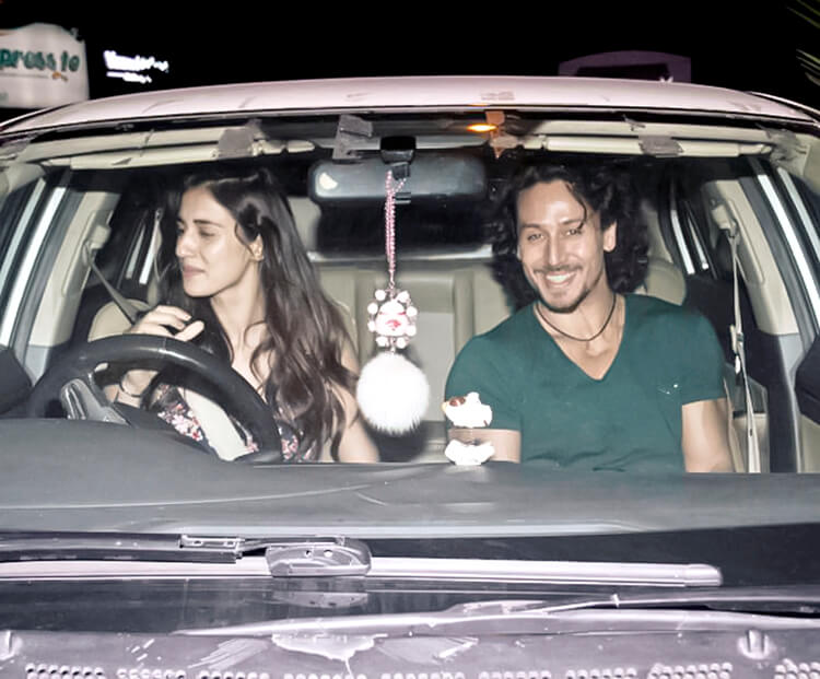 Disha Patani and Tiger Shroff's candid pic