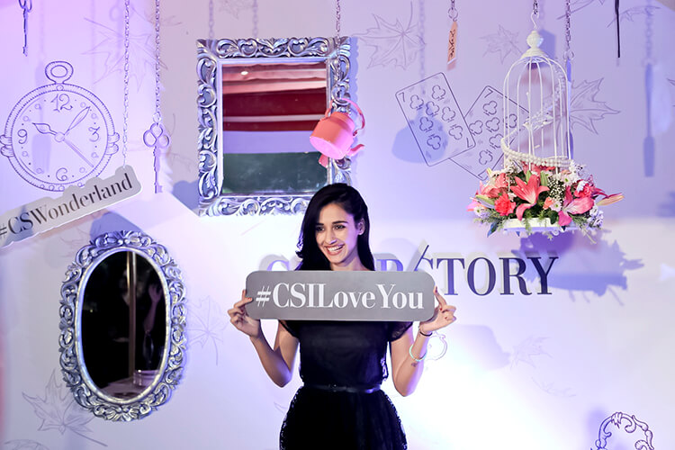 Disha Patani posing at the Cover Story's event