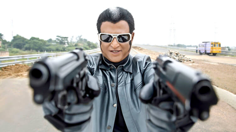 Rajinikanth in a still from Robot