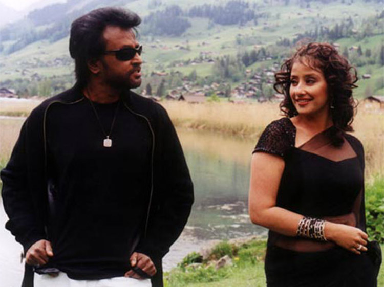 Rajinikanth with Manisha Koirala in Baba
