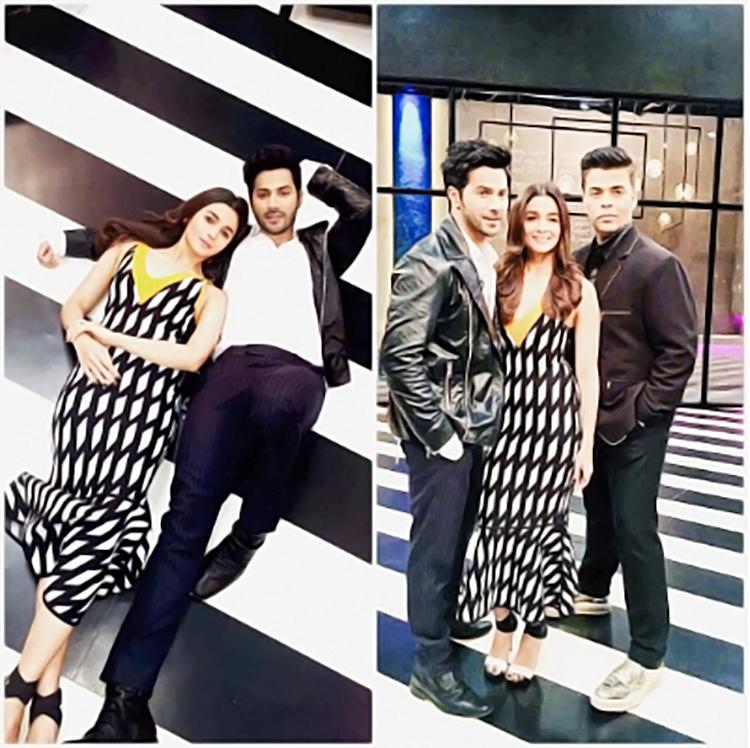 This insta post from the sets of Koffee With Karan has Varun shining