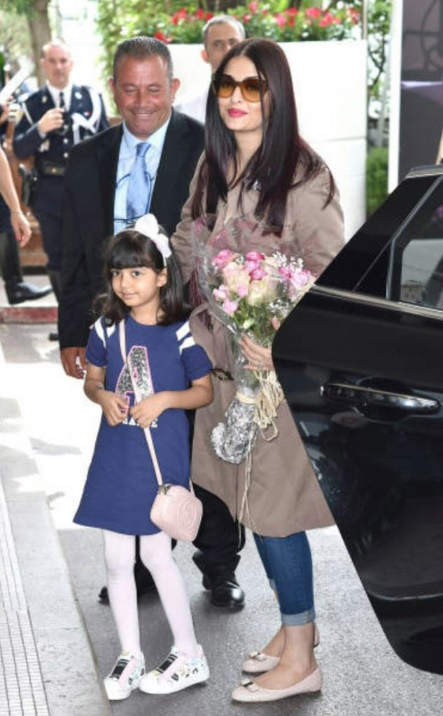 Aishwarya Rai with daughter Aaradhya reach Cannes