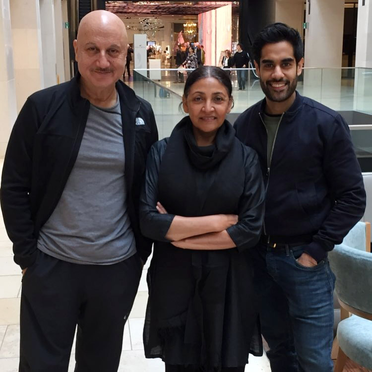 Anupam Kher with actress Deepti Naval