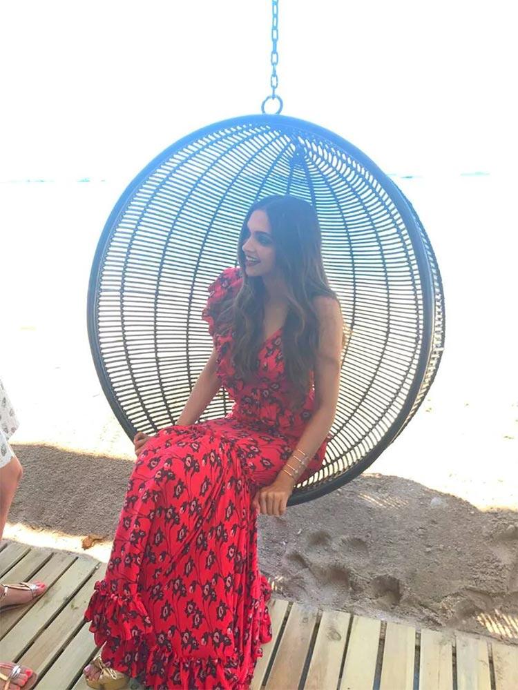 Deepika Padukone enjoying Cannes 2017 at L'Oreal beach studio