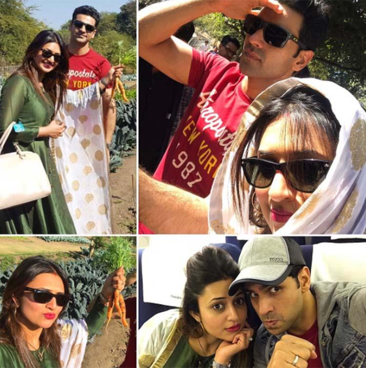 Divyanka Tripathi and Vivek Dahiya having fun in Bhopal
