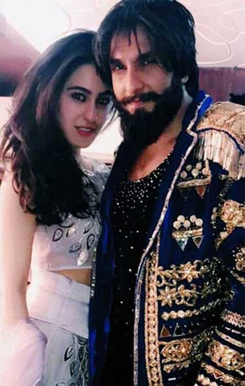 Sara Ali Khan with Ranveer Singh