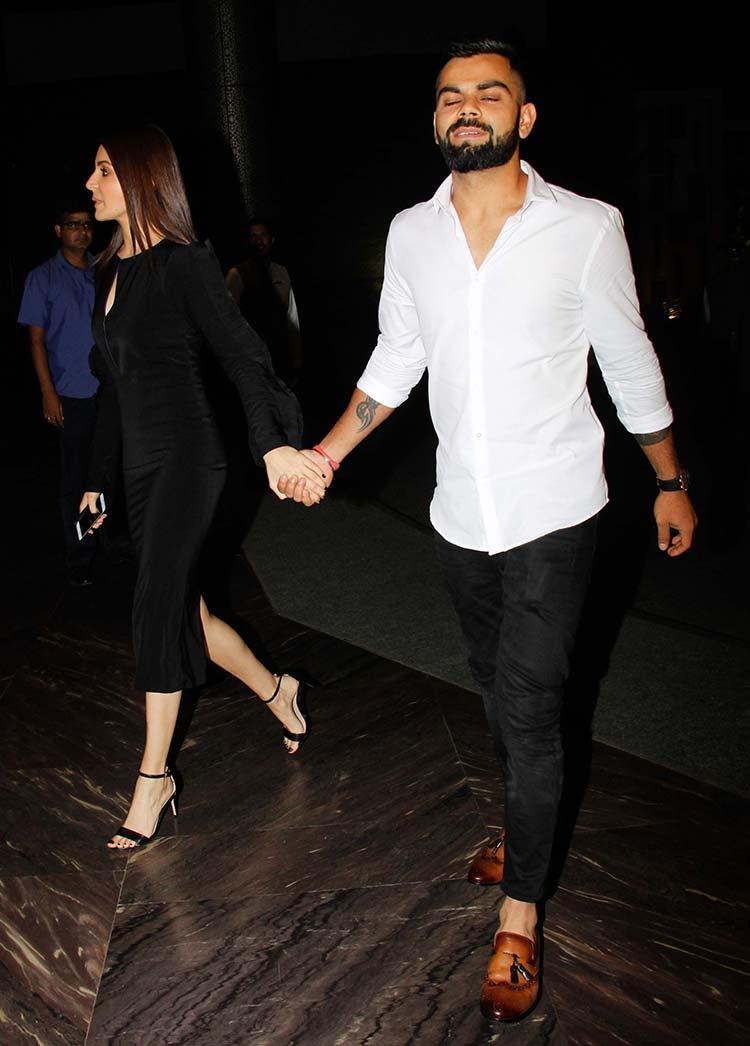 9934baaf1b Virat Kohli and Anushka Sharma look dazzling at Zaheer Khan s engagement