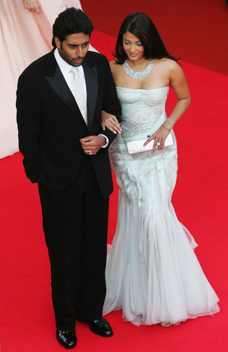 Aishwarya Rai with Abhishek Bachchan at Cannes Film Festival 2007