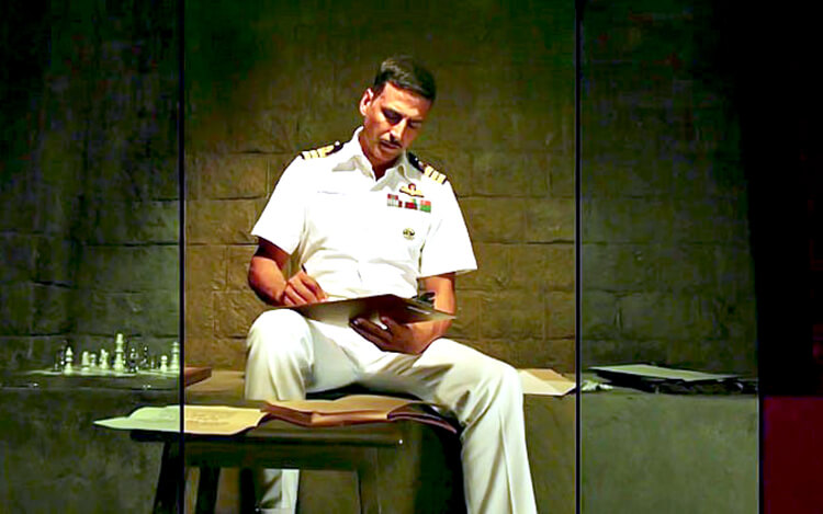 Akshay Kumar in and as Rustom