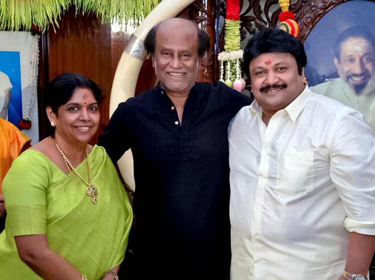 Rajinikanth at Prabhu's 60th birthday party