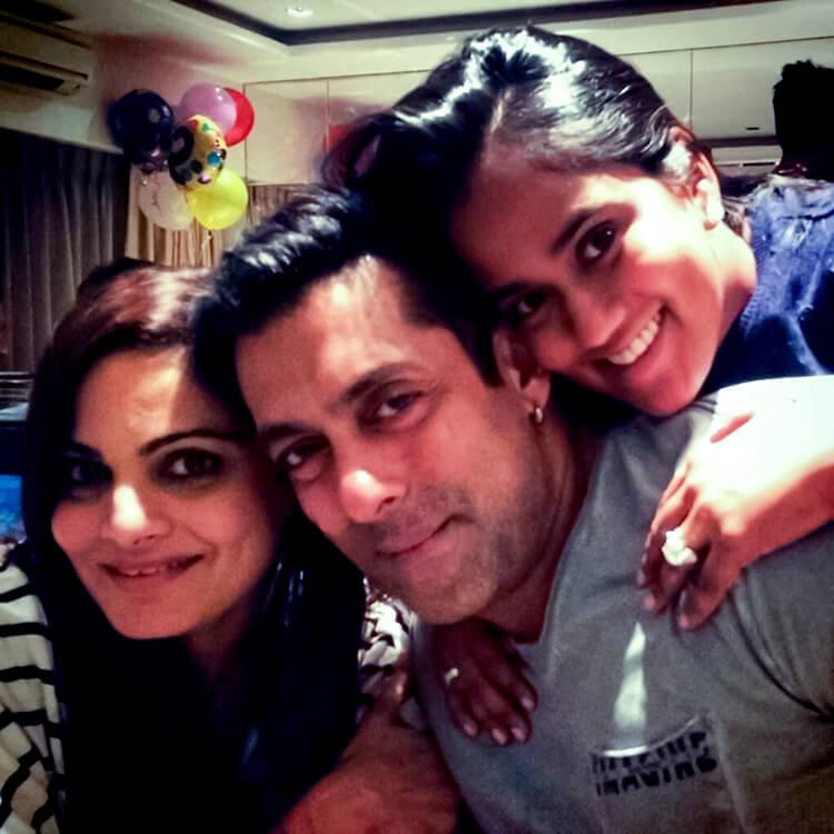 Salman Khan at mother Salma Khan's birthday party