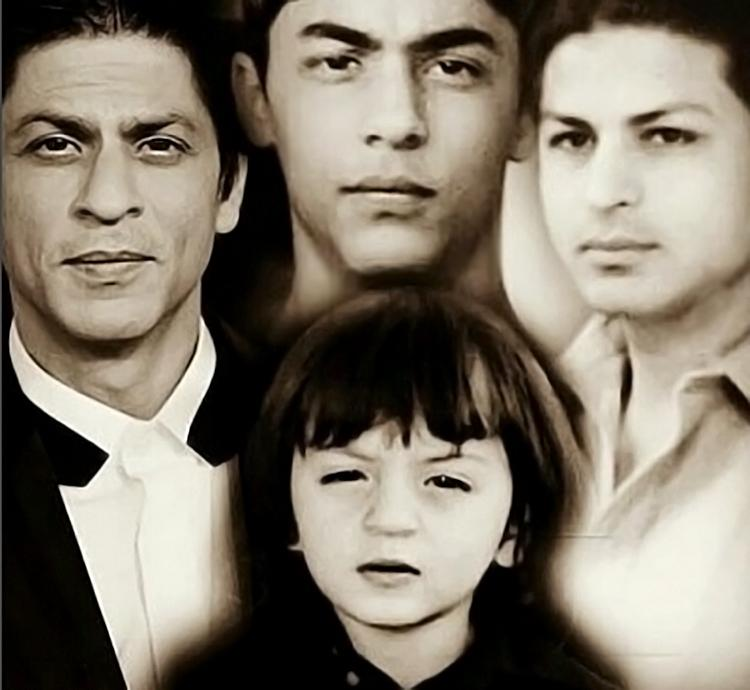 Three generations of Shah Rukh Khan's family in one insta pic