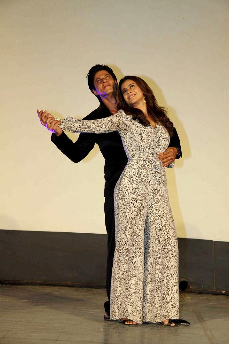 Shah Rukh Khan and Kajol at Gerua song launch