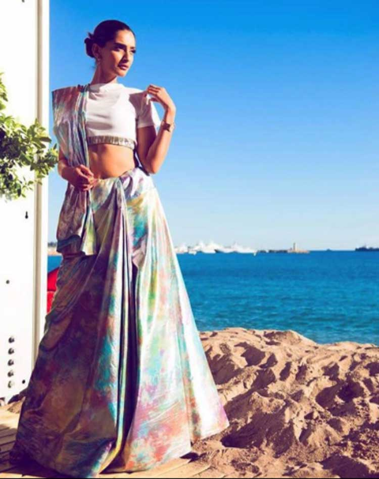 Sonam Kapoor looks flawless while posing for a photoshoot at Cannes