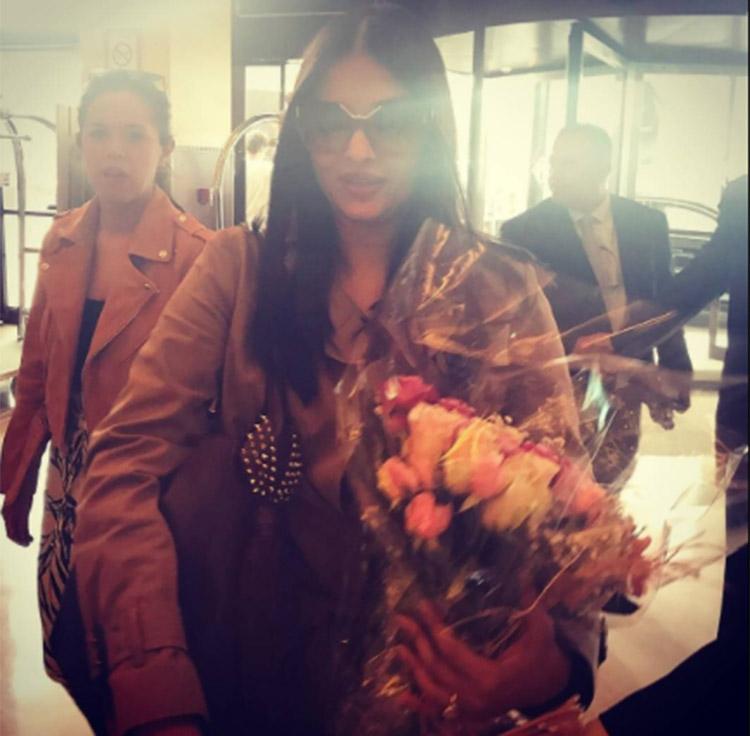Aishwarya Rai after reaching Cannes