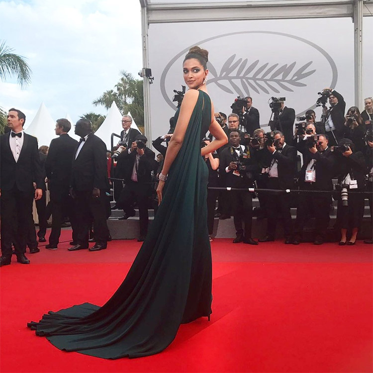 Deepika Padukone gracing the Cannes red carpet like a goddess