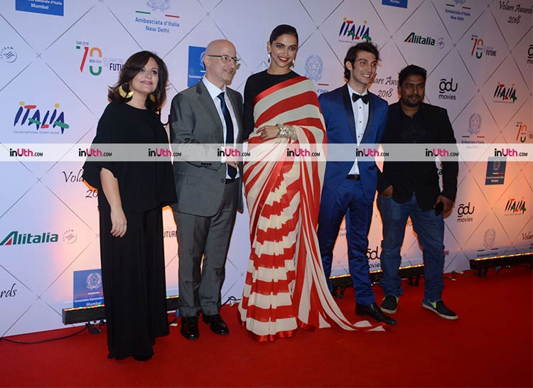 Deepika Padukone snapped at the Valore Awards 2018